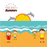 Summer vacations. Design, vector illustration eps10 graphic Stock Photography