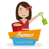 Summer vacations Stock Image
