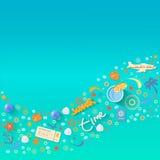 Summer vacations design, vector illustration Stock Image