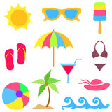 Summer vacations elements Royalty Free Stock Photography