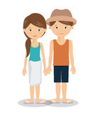 Summer vacations in family design Royalty Free Stock Image