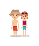 Summer vacations in family design Royalty Free Stock Photography