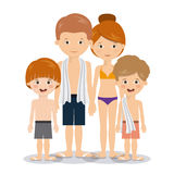 Summer vacations in family design Stock Photos