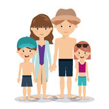Summer vacations in family design Stock Photo