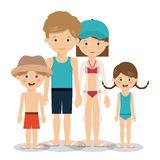 Summer vacations in family design Stock Photography