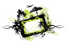 Summer vacations, frame grunge. Vector illustration Stock Image