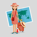 Summer vacations holiday poster. Vector illustration design Royalty Free Stock Photography