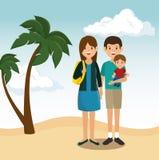 Summer vacations holiday poster. Vector illustration design Royalty Free Stock Photo
