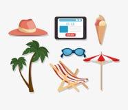 Summer vacations holiday poster. Vector illustration design Stock Photo
