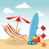 Summer vacations holiday poster. Vector illustration design Stock Image