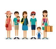 Summer vacations holiday poster. Vector illustration design Stock Photos