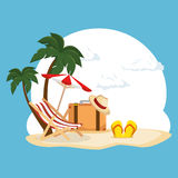 Summer vacations holiday poster. Vector illustration design Stock Photography