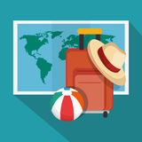 Summer vacations holiday poster Stock Image