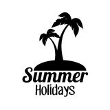 Summer vacations holiday poster Stock Photo