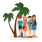 Summer vacations holiday poster. Vector illustration design Royalty Free Stock Images