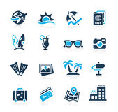 Summer Vacations Icons - Azure Series Stock Photo