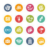 Summer Vacations Icons - Fresh Colors Series Royalty Free Stock Photography