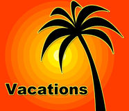 Summer Vacations Indicates Time Off And Heat Royalty Free Stock Image