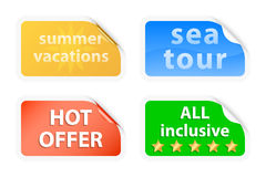 Summer vacations labels Stock Photos