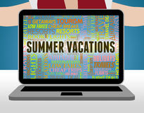 Summer Vacations Means Beach Summertime And Getaway Royalty Free Stock Image