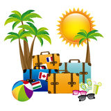 Summer vacations. Over white background vector illustration Royalty Free Stock Image