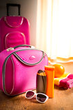 Summer vacations packing Stock Photo