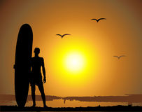 Summer vacations, surfing Stock Image