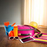 Summer vacations with tablet Royalty Free Stock Photos