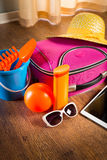Summer vacations with tablet Royalty Free Stock Photo