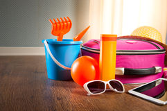 Summer vacations with tablet Royalty Free Stock Photography