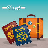 Summer, vacations and trave Royalty Free Stock Image