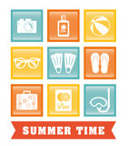 Summer, vacations and trave Stock Images
