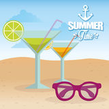Summer, vacations and trave Royalty Free Stock Photos