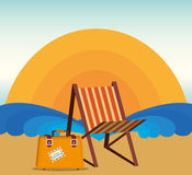 Summer and vacations Royalty Free Stock Images