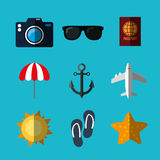 Summer, vacations and travel Royalty Free Stock Image