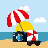 Summer, vacations and travel Royalty Free Stock Images