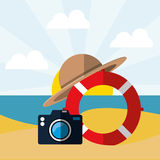 Summer, vacations and travel Stock Images