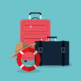 Summer, vacations and travel Stock Image