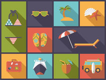 Summer vacations vector illustration Royalty Free Stock Photos