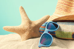 Free Summer Vaction Beach Background Royalty Free Stock Photography - 67208757