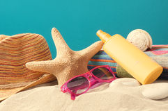 Summer vaction beach background Stock Images