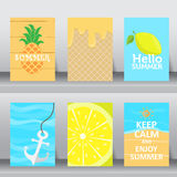 Summer vaction time background. vector Stock Image