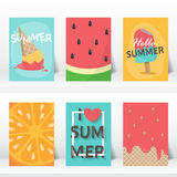 Summer vaction time background. vector Royalty Free Stock Photography