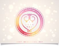Summer valentines day labels design Stock Photography