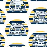 summer van pattern Στοκ Εικόνες