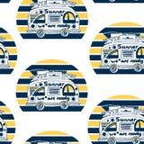 summer van pattern royalty free illustration