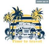 summer van stock illustration