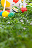 Summer with various outdoor fun equipment Royalty Free Stock Image