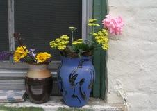 Summer Vases in Brooklyn, New York Stock Photo