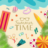 Summer vecetion time background vector Stock Image